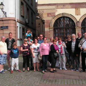 le groupe à Strasbourg