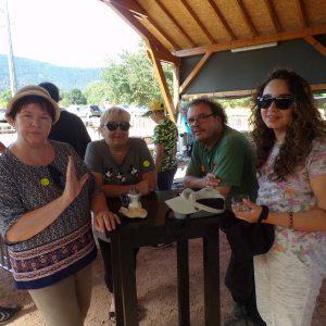 Joëlle, Chantal, Bruno et Marie