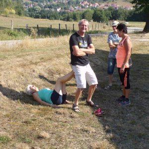 Francine en pause yoga et détente pour Philippe
