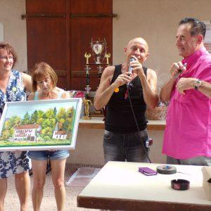 le tableau représentant la demeure de Gilbert offert par M.Wach