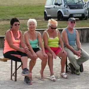 Christine, Francine, Joséphine et Roland en spectateurs