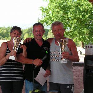 les vainqueurs du concours: Nadine et Marc Koessel