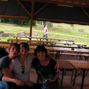 Véronique, Nadine et Christiane tout sourire