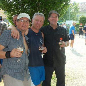 pause apéro pour Yves, Marc et Didier