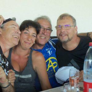 Christian, Christelle, Virgile, Gérald