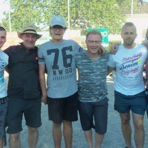 les finalistes : Laurent, Didier, Axel, André, Frédéric, Christian