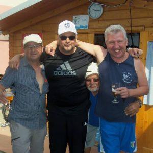 Yves, Gérald, Marc et Antoine qui a réussi à se faufiler in extremis